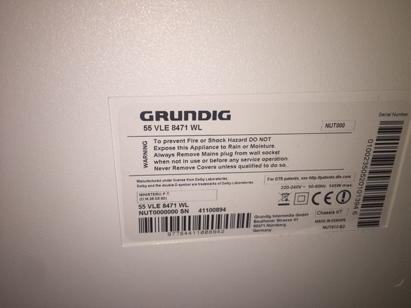 Defekter Tv Marke Grundig 55