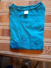 T-Shirt Gr 48 Caribikblau Ton
