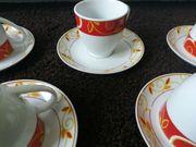Kaffeetassen mit Unterteller Porzellan