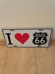 Schild USA Route 66 Blech