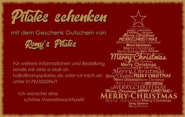 Geschenkidee Gutschein für Pilatesstunden - Bestellung