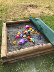Sandkasten incl Abdeckung und Sand