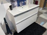 Badmöbel-Set 100 cm Weiß Hochglanz LACKIERUNG