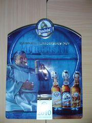 Brauereiwerbeschild mit Sprücheabreiskalender