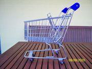 Verkaufe Metall - Einkaufswagen als Deko