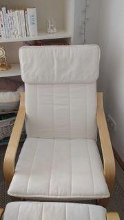 Verkaufe Sessel Hocker Beistelltisch und