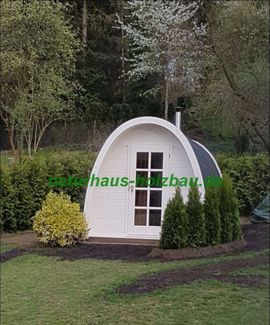 Sonstiges für den Garten, Balkon, Terrasse - Sauna Pod Camping Pod Fasssauna