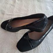 Schuhe schw Gr 41 Keilabsatz