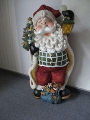 Weihnachtsmann - ca 80cm groß - Keramik
