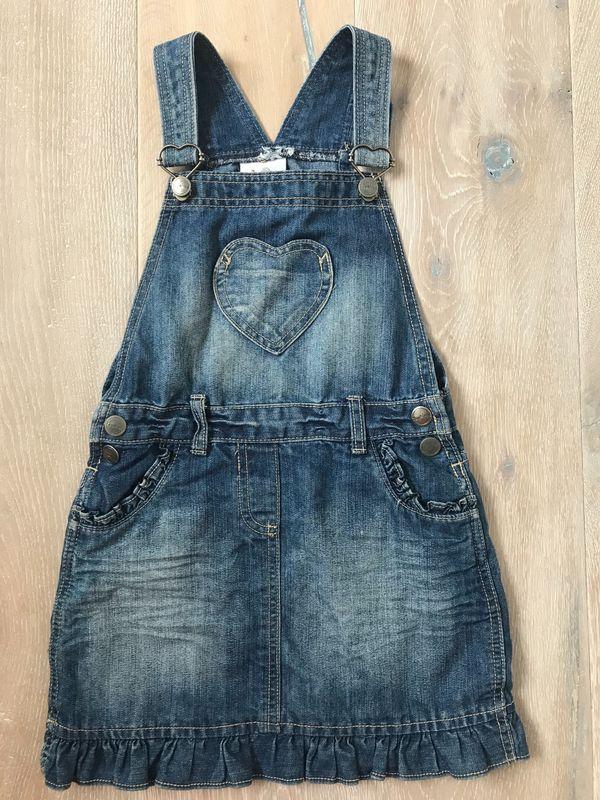 Ernstings Topolino Kleid Jeanskleid Latzkleid