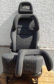 Autositz VW Sharan mit Kopfstütze