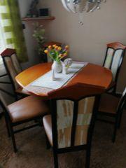 Esstisch 6-eckig inkl 6 Stühlen