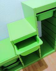 Grünes Trofast Kiefern-Holz-Stufen-Regal Ikea incl