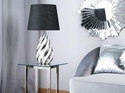 Tischlampe schwarz silber 65 cm