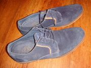 Blaue Wildleder Schuhe S Oliver