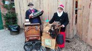 Drehorgelspieler Duo Orchester Leierkasten