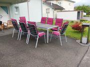 Gartentisch Alu 8 Stühle und