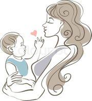 Junge Mutter mit kind such