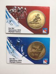 2 Münzen Medaillen Olympic Games