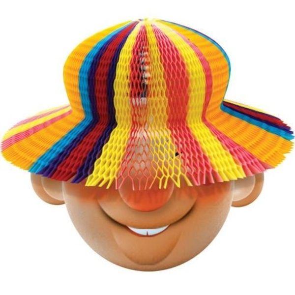 funky Hüte aus Papier farblich