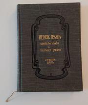 Henrik Ibsen-Sämtliche Werke in deutscher Sprache