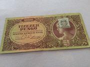 10 000 Pengö Banknote zu