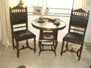 antiker Tisch und 2 antike