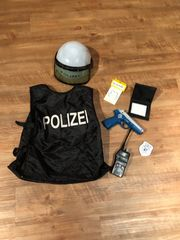 Faschingskostüm Polizei mit Zubehör