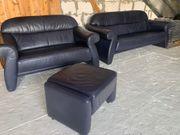 Luxus Leder Sofa Couch Garnitur
