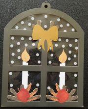 Weihnachts-Fensterdeko - Fenster Folie mit Kerzen -
