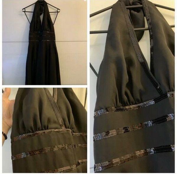 Abschlussballkleid Abiballkleid Abendkleid Neckholderkleid 36