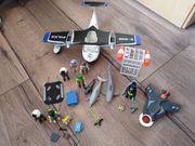 Playmobil Set mit Polizei Flugzeug
