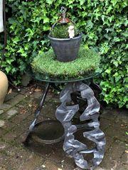 Garten DEKORATION schmiedeeiserner kl Tisch