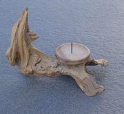 Kerzenständer aus Treibholz vom Hobbykünstler