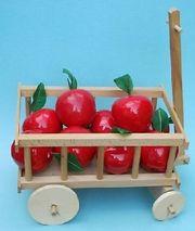 DEKO - Leiterwagen mit 9 roten