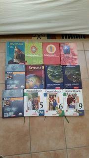 diverse Schulbücher Gymnasium