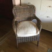 Sessel aus Rattan
