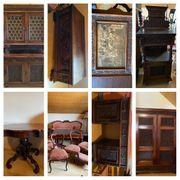 Antiquitäten-Möbel aus dem 19 Jh