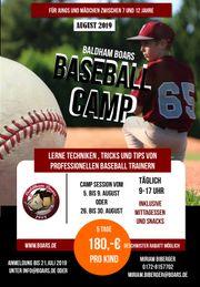 Sommer Ferien Betreuung im Baseballcamp