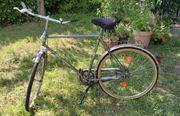 Herren-Fahrrad mit Edelstahl Teilen an