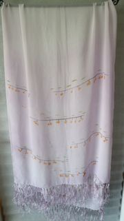 Sommerschal Schal rosa Blüten 58x120cm