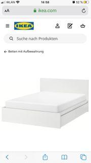 Doppel Bett IKEA MALM weiß