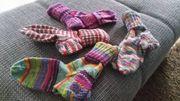 4 paar handgestrickte Socken Gr37-38