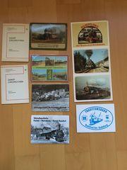 DDR Dampflok Postkartensets 1980er Jahre