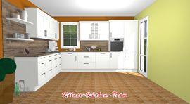 Küchenzeilen, Anbauküchen - Landhausküche 385 x 305 cm