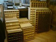Komplett 48 Holzsetzkästen in verschiedene