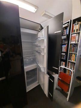 Küchenzeilen, Anbauküchen - Küchenzeile Hochglanz schwarz mit