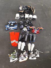 Eishockey Konvolut Schlittschuhe Ausrüstung Kinder