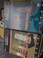 zwei 3D Puzzle LED