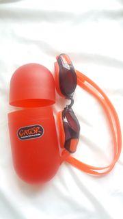 Optische Schwimmbrille mit Sehstärke -10